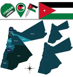Jordan map with named divisions vector image