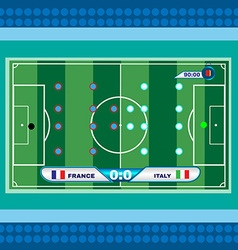 Football soccer playfield top view vector