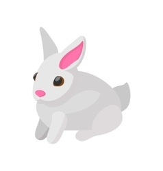 Easter bunny cartoon icon vector