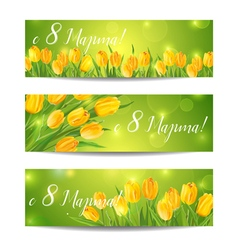 8 march - womens day greeting banners vector
