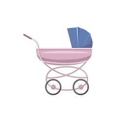 Baby stroller icon cartoon style vector
