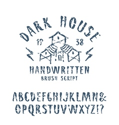 Handwritten brush font in horror style vector