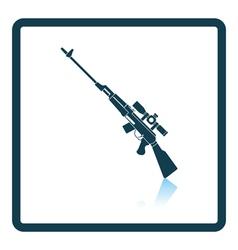 Sniper rifle icon vector