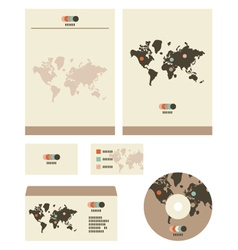 Retro world stationary vector