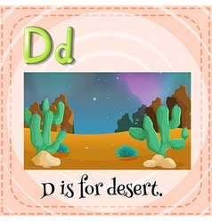 A letter d vector
