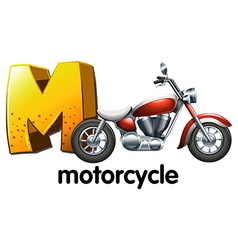 A letter M for motorcycle vector image vector image