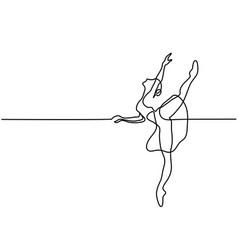 ballet dancer ballerina vector image vector image