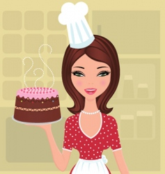 beautiful baker vector image vector image