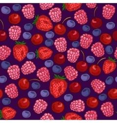 Berries Seamless Pattern vector image vector image