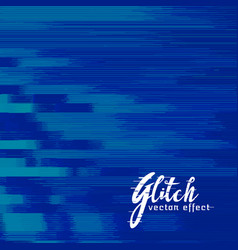 Blue abstract glitch background design vector