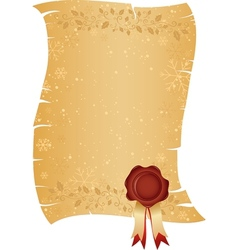 Christmas scroll paper vector image vector image