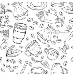 coffee background pattern vector image vector image