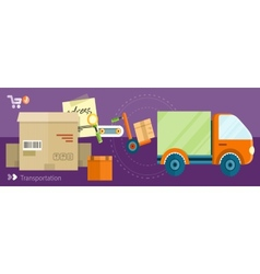 Delivery shipping concept vector image
