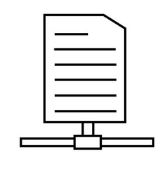 documents sharing icon vector image