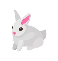 Easter bunny cartoon icon vector image