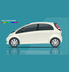 Electric vehicle or hybrid car in outlines vector