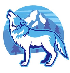 Howling wolf vector