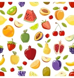 Miscellaneous fruits seamless pattern vector image vector image
