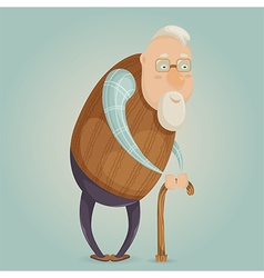 old man cartoon character vector image