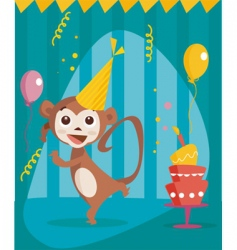 party monkey vector image vector image