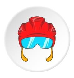 Pilot helmet icon cartoon style vector