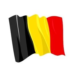 Political waving flag of belgium vector