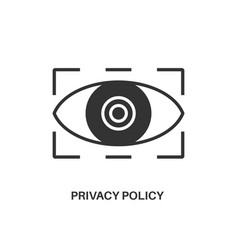 privacy policy icon vector image vector image