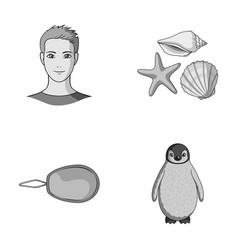 Profession sewing and other monochrome icon in vector