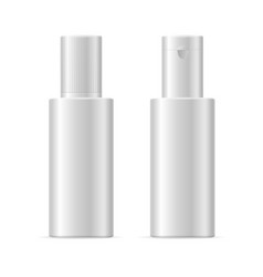 realistic template blank white cosmetic bottle vector image vector image