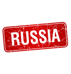 Russia red stamp isolated on white background vector