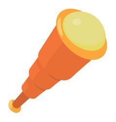 spyglass icon cartoon style vector image