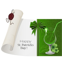 St Patricks day cocktail vector image vector image