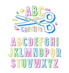 Stock creative alphabet vector