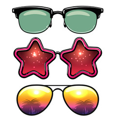 Summer style eyeglasses vector