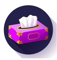 Tissue box flat icon vector
