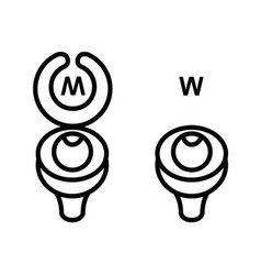 toilet sign in funny style vector image vector image
