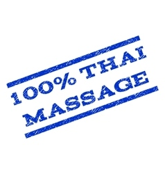 100 percent thai massage watermark stamp vector
