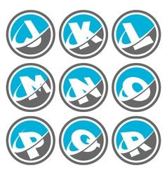 Swoosh Alphabet Logo Icons Set 2 vector image