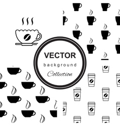 Pattern with cup of coffee vector