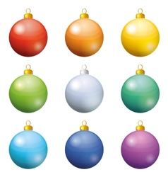 Christmas decoration set balls vector