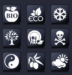 healthy living icons vector image