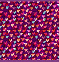 Hearts seamless pattern fashion background for vector