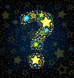 Question mark cartoon star colored vector