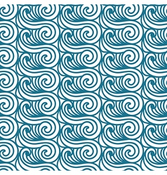 Sea seamless pattern abstract asian waves vector