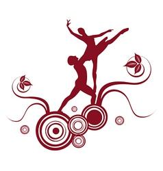 ballet abstract design 2 vector image