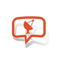 Satellite dish message sticker orange vector