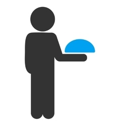 Child waiter icon vector