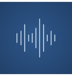 Equalizer line icon vector