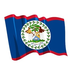 political waving flag of belize vector image