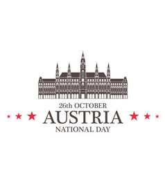 Independence day austria vector